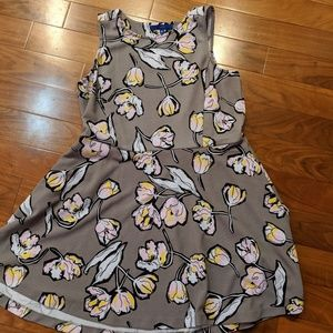 Fit and Flare Floral Grey Apt 9 Dress